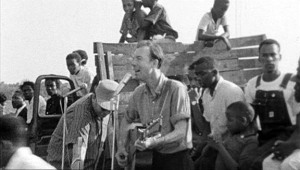 Pete Seeger young by truck